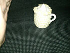 Vintage ANTIQUE  Luster MUSTARD POT / JAR GOLD TRIM