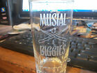 Vintage Stan Musial & Biggies Etched Drink Glass St Louis Cardinals