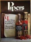 Seagram's 100 Pipers scotch 1971 original vintage ad 1970s print 70s Christmad