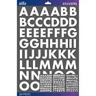 Scrapbooking Stickers Sticko Numbers Alphabet Large 3 Sheets White Bold Letters