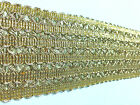 Designer Indian Braided Trim Golden Metallic Thread Sewing Craft Sari Border 2 Y