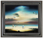 Robert Watson Original Painting Oil on Board Signed Seascape Artwork Authentic