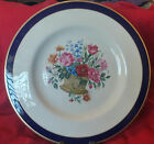 VINTAGE PICKARD CHINA BLUE AND GOLD RIM FLORAL DINNER PLATE FLOWER  BOUQUET