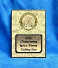 Anniversary 50th Gold Custom Personalized Award Plaque Gift Wedding Marriage