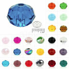 5040 72Pcs Crystal Czech Loose Spacer Glass DIY Beads 65x8mm Rondelle Faceted