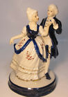 Vintage Mid 1900's German Porcelain Figurine 17th C Couple Dancing at Ball yqz