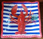 tommy bahama LOBSTER square Dinner  Plates set of 2  NWT melamine outdoor