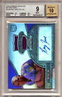 2008 Bowman Sterling Refractors Jersey Autograph Ray Rice Rookie Graded BGS 9 *0