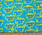 1 yard of FAMILY GUY blue Yellow LOGO Cotton Fabric sew craft cartoon by Camelot