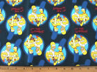 1 yard of THE SIMPSONS BLUE CIRCLE PORTRAIT Cotton Fabric cartoon by Camelot