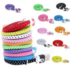 3 6 10FT Braided Flat Micro USB Charger Charging Sync Data Cable For Cell Phones
