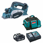 MAKITA 18V LXT DKP180 DKP180Z PLANER AND 1 x BL1840, 1 x DC18RC, 1 x BAG