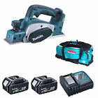 MAKITA 18V LXT DKP180 DKP180Z PLANER AND 2 x BL1840, 1 x DC18RC, 1 x LXT600 BAG