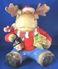 NEW Fitz and Floyd Merry Jingle Moose Christmas Cookie Jar