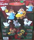 Bucilla Baby Jesus Felt Christmas Ornaments Kit Nativity Manger RARE 84598