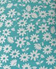 Snuggle Flannel Mod Flowers on Teal Quilting Apparel New BTY