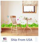 Removable Clover Pink Flower Butterfly Wall Border Decal Windows Sticker US Ship