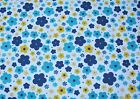 Snuggle Flannel Aqua Ditsy Floral Apparel General Quilting BTY New