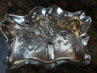 Victor Silver Co Quadruple Plate #1544 Art Nouveau Ash Tray /Pen / Pencil Holder