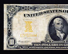 1907 $10 Series GOLD Certificate bank note US currency paper money American
