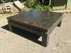 Maitland Smith Industrial Steampunk Patina Copper Patchwork Coffee Table
