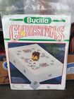 NIP Bucilla CHRISTMAS Goose Stamped Cross Stitch Tablecloth 52X70 Oblong