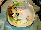 ANTIQUE Nippon Handpainted Floral Bowl Beautiful Gold Edging 24k  5 1/2