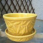 Vintage McCoy Yellow Berries & Leaves Flower Pot Planter