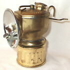 VINTAGE 1939 JUSTRITE STREAMLINED BRASS CARBIDE MINERS LAMP NO2 810 EXC NR