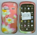 Pink Lotus Case for LG RUMOR REFLEX LN272 Sprint Rubberized Protective Snap On