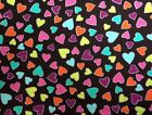 Kanvas GIRLS ROCK (SWEETHEARTS-Black) 100% Cotton Prem. Quilt Fabric-Per 1/2 yd