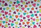 Kanvas GIRLS ROCK (SWEETHEARTS-White) 100% Cotton Prem. Quilt Fabric-Per 1/2 yd
