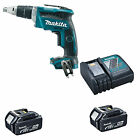 MAKITA 18V DFS452 DFS452Z SCREWDRIVER, 2 x BL1840 BATTERIES & DC18RC CHARGER