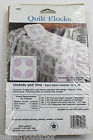 Orchids & Vine 6 Stamped Cross Stitch Quilt Blocks Embroidery 16