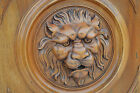French Antique Carved Walnut Wooden Architectural Door Panel - LION Head n°2