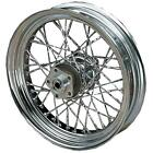 Drag Specialties Twisted Chrome Spoke Set for Drop Center Rims Motorcycle Wheels
