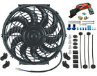 12 INCH SLIM ELECTRIC FAN AUTO RADIATOR COOLING 3 8 COOLANT THERMOSTAT KIT NEW