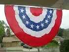 PATRIOTIC USA BUNTING AMERICAN FLAG POLYESTER DOUBLE SIDED 5 X 3 FT Labor day