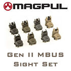 Magpul Mbus Gen 2 Sight Set Front Rear Sights Mag247 Mag248 Flip Up Buis New