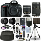 Nikon D5300 Digital SLR Camera + 16GB Multi Lens Bundle: 18-55mm VR + 70-300mm