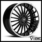 22 XO NEW YORK BLACK CONCAVE WHEELS RIMS FITS CHEVROLET CAMARO LS LT SS