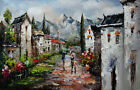 Palette knife landscape oil painting on canvas wall picture for decoration24x36