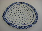Italy Handpainted for Gump's Blue Dots Serving Platter, 12