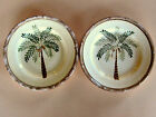 2 Home Trends Coconut Palm Tree Salad Plates 8