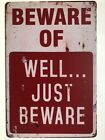 Warning No Stupid People Funny Tin Sign Bar Cafe Garage Wall Decor Retro Vintage