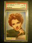 1953 WHO Z AT STAR CARD #28 POLLY BERGEN PSA 6 TOPPS