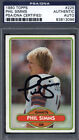 1980 Topps #225 Phil Simms Rookie Signed Autographed Card Giants PS