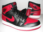 NEW 2013 DS Nike Air Jordan Retro 1 HIGH OG BLACK RED BRED 555088-023 Size 10