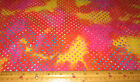 1 yard of RED PINK ORANGE YELLOW PURPLE with DOTS BATIK 100% cotton fabric