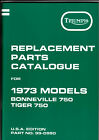 1973 Triumph 750 TR7V,  T140V, OIF, OEM, Parts Manual, F/SH